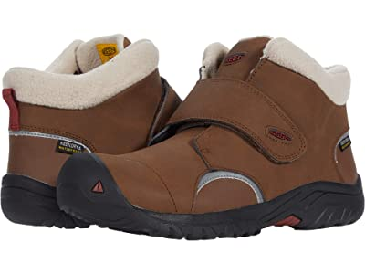 KEEN Kids Kootenay III Mid WP (Little Kid/Big Kid) (Bison/Fired Brick) Boy
