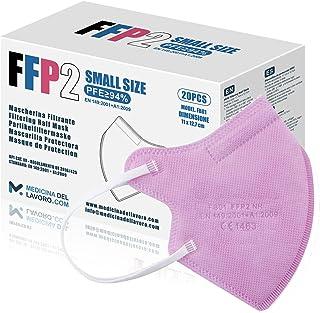 20 FFP2/KN95 Maske Rose CE Zertifiziert Kleine Größe Small, Medizinische Mask mit 4 Lagige Masken ohne Ventil, Staub- und ...
