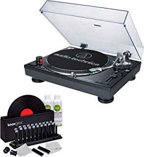 Audio-Technica AT-LP120BK-USB Direct-Drive Turntable (USB & Analog) with Knox Record Cleaner Kit