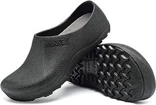 incarpo Men and Women Slip Resistant Clog Lightweight Chef Nurse Shoes Safety Working Shoes Black