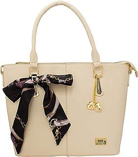 I DEFINE YOU Sandra Leatherette Handbag for Girls and Women (Tan Color)