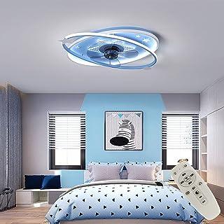 Enfant LED Fan Plafonnier Moderne Nordique Dimmable Ventilateur Au Plafond Avec Lampe Ultra-Mince Invisible Lustre De Du V...