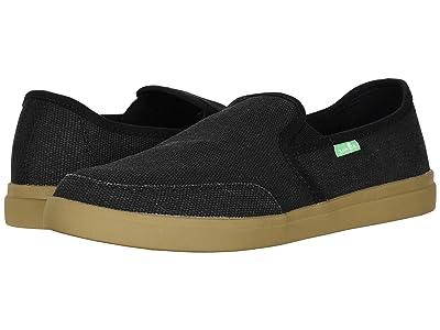 Sanuk Vagabond Slip-On Sneaker (Black/Gum) Men