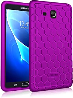 Fintie Silicone Case for Samsung Galaxy Tab A 7.0, [Honey Comb Series] Light Weight [Anti Slip] Shock Proof Cover [Kids Friendly] for Galaxy Tab A 7-inch Tablet 2016 Release (SM-T280/SM-T285), Purple