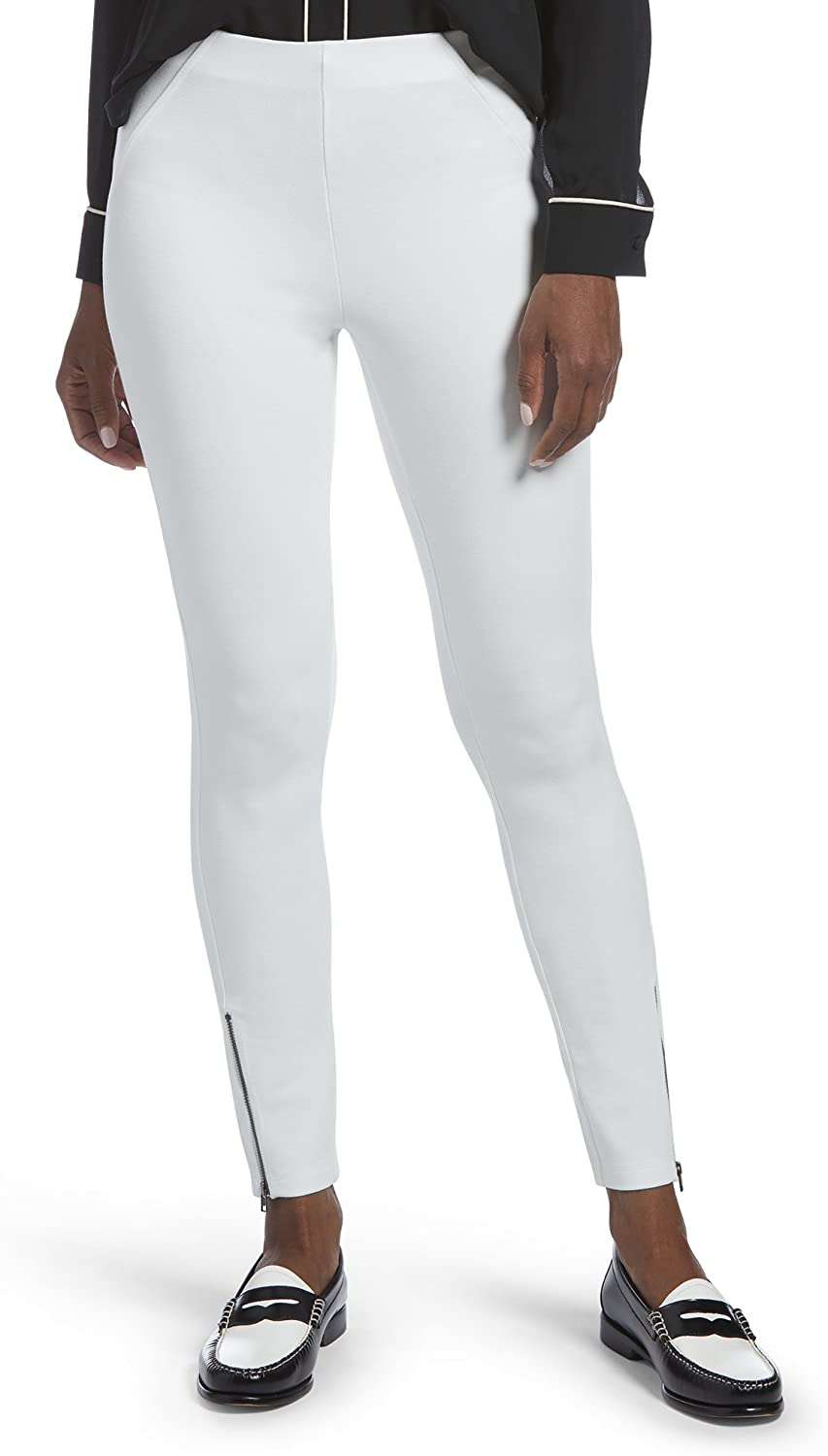 HUE Don't miss the campaign Elegant Women's Twill Ankle Zip Stretch 18749 Simply Skimmer