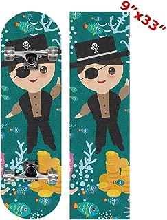 Anneunique Custom Underwater Mermaid Skateboard Grip Tape Sheet 9