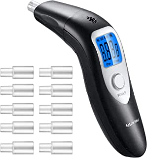 GDbow Ketone Meter, Portable Digital Ketone Breath Analyzer with 10 Mouthpieces for Personal Use