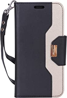 """ProCase iPhone XR Wallet Case, Flip Kickstand Case with Card Slots Mirror Wristlet, Folding Stand Protective Cover for Apple iPhone XR 6.1"""" (2018 Release) -Black"""