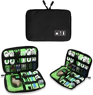 Electronics Accessories Organizer Bag,Portable Tech Gear Phone Accessories Storage Carrying Travel Case Bag, Headphone Earphone Cable Organizer Bag (M-Black)