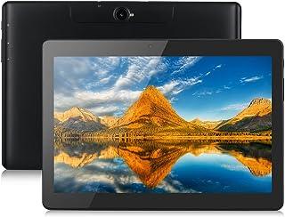Excelvan タブレット 10.1インチ デュアルSIMカード デュアルスタンバイ(SIMフリー)3G通話でき 1280*800 IPSディスプレイ クアッドコア MTK8321 2GB RAM + 16GB ROM デュアルカメラ デュアルWi-FiBluetooth搭載 M10K6 (ブラック)