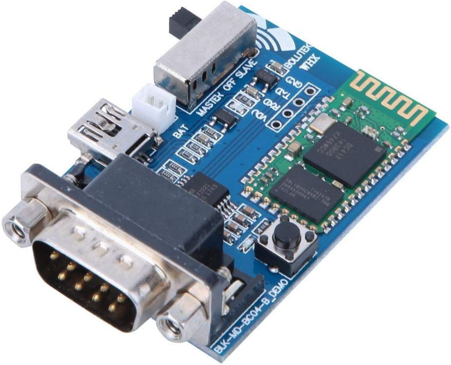 RS232 Módulo maestro-esclavo Adaptador en serie Bluetooth 5V CSR Comunicación de chip Bluetooth Módulo maestro-esclavo Estabilidad para sistemas Windows/DOS