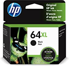 Original HP 64XL Black High-yield Ink Cartridge | Works with HP ENVY Photo 6200, 7100, 7800 Series | Eligible for Instant ...