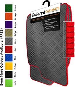 fit Ateca Cupra  2016   Tailored Black Rubber Car Mats Red Trim  2134