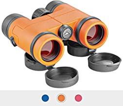 Euber Best Compact Waterproof Shock Proof Binoculars for Kids- Toys Gift for 3-12 Year Old Boys and Girls (Orange)