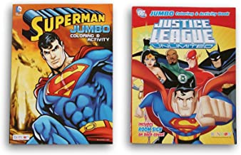 Comic Book Superheroes Coloring Book Set - Superman and Justice League