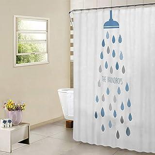 Cortina de Ducha Impermeable Resistente al Moho Cortinas Baño PEVA Bañera Cortina con12 Gancho de la cortina de Baño180 x180 cm (72
