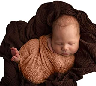 Sunmig Newborn Baby Stretch Wrap Photo Props Wrap-Baby Photography Props (Brown)