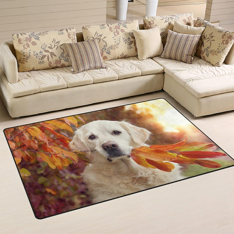 Dog Colorful Leaves Large Soft Area Sales for sale online shop Rugs Playmat Rug Mat Nursery