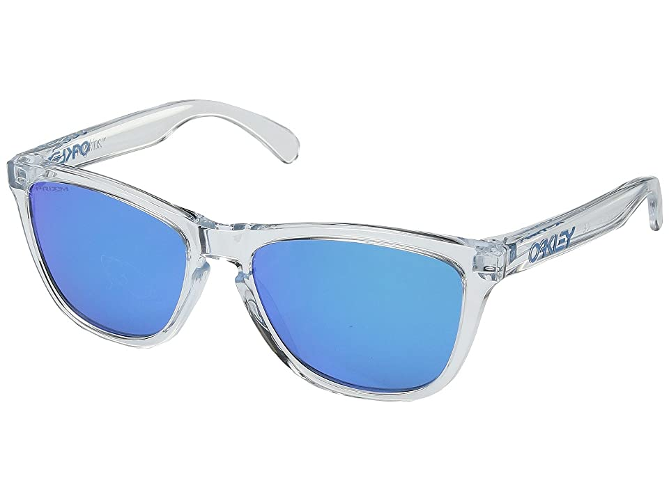 Oakley Frogskins (Crystal Clear w/ Prizm Sapphire) Sport Sunglasses