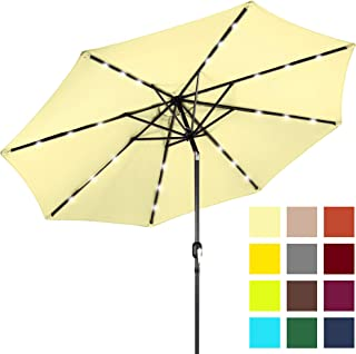 ef317536b3f39 Best Choice Products 10ft Solar Powered LED Lighted Patio Umbrella w/Tilt  Adjustment, Fade