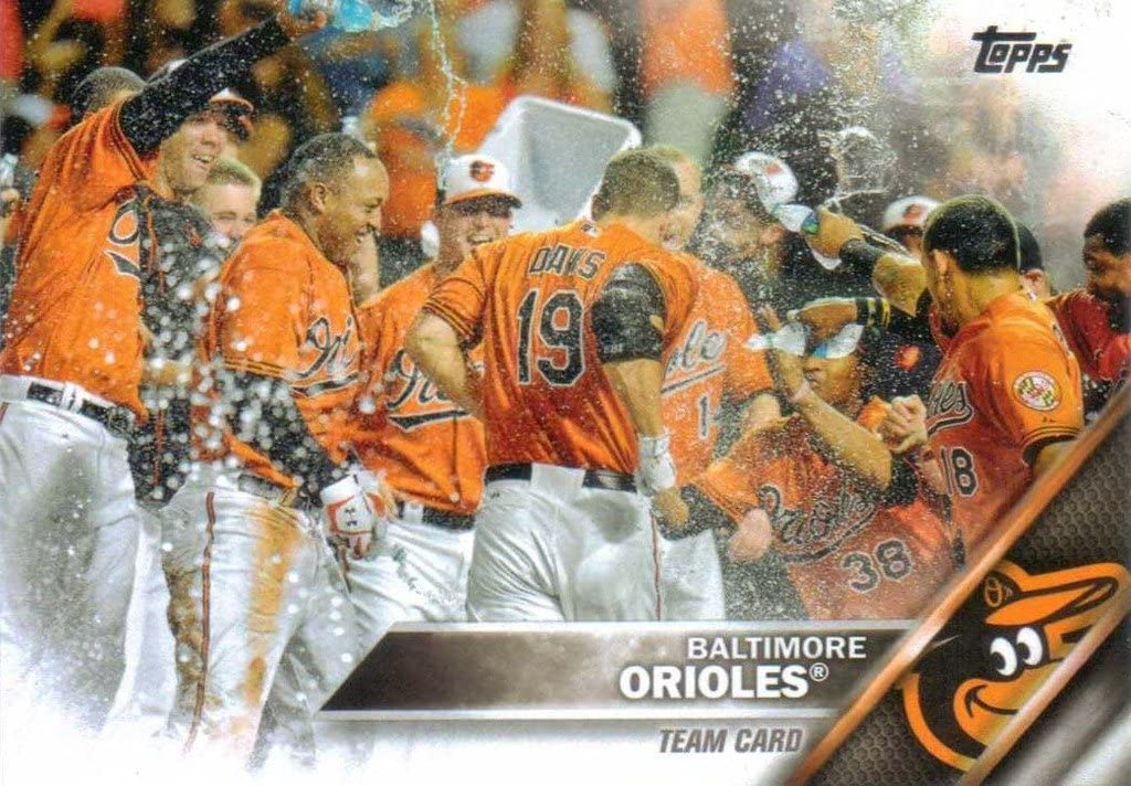 Baltimore Orioles 2016 Topps Ranking integrated 1st place Surprise price MLB Baseball Complete Regular Issue