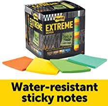 Post-it Extreme Notes, Stop Re-work on the Job, Removes cleanly, 100X the holding power, Green, Orange, Mint, Yellow, 3 in x 3 in, 12 Pads/Pack, 45 Sheets/Pad
