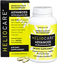 Heliocare Advanced Nicotinamide B3 Supplement: Niacinamide 250mg and Fernblock PLE Extract 120mg Per Capsule - Helps Support Skin Cell Health W/Antioxidant Rich Vitamin B3 Niacin - 120 Vegan Capsules