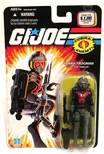 G.I. JOE Hasbro 3 3 4  Wave 11 Action Figure Cobra Eel (Cobra Frogman)