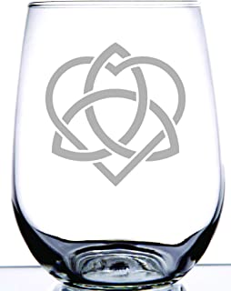 Irish Celtic Sisterhood Knot | Laser Etched on 15 Ounce Stemless Wine Glass | Any Sister Will Love this Reminder of Your Bond