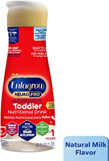 Enfagrow NeuroPro Next Step Toddler Ready to Feed Non-GMO Milk Drink - Natural Milk Flavor, 32 fl oz - Omega 3 DHA, MFGM, Prebiotics, Irons, Vitamins (Packaging May Vary)