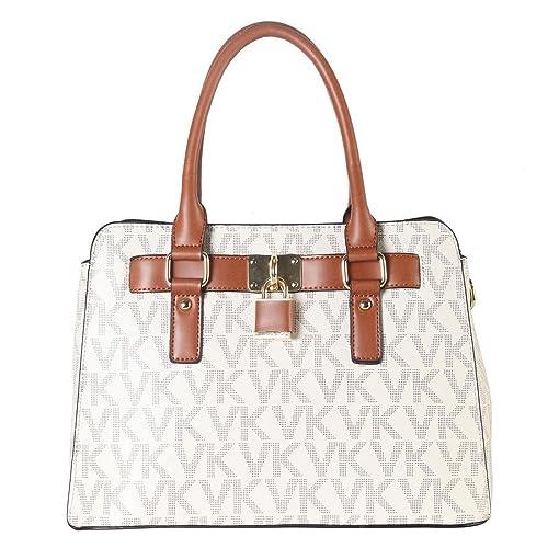 Medium Satchel 2 Pieces Purse Set Designer Handbag Top Handle Shoulder Bag  Padlock 44944dc556873