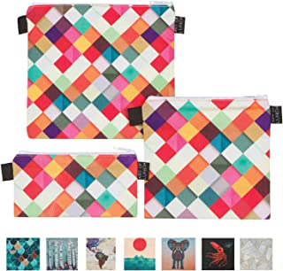 Art of Lunch Designer Lunch Baggies for Men & Women, Boys & Girls, Fashionable, Reusable, Snack & Sandwich Bags w Zipper - Design by Danny Ivan (Portugal) - Pass This On