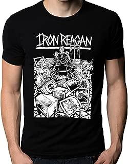UD Gate Iron Reagan Crossover Thrash Metal Punk Band Logo Men's T-Shirt