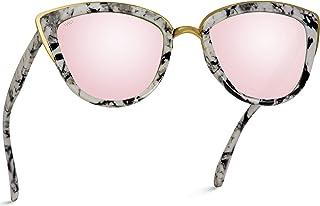 color dorado rosa dise/ño de ojo de gato Gafas de sol para mujer