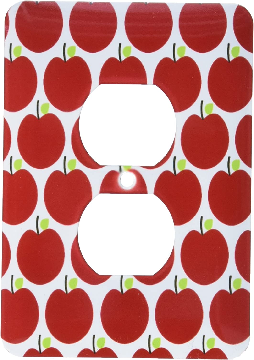 3dRose lsp_164468_6 Red Apples Fruit Kitchen Theme Art 2 Plug Outlet Cover