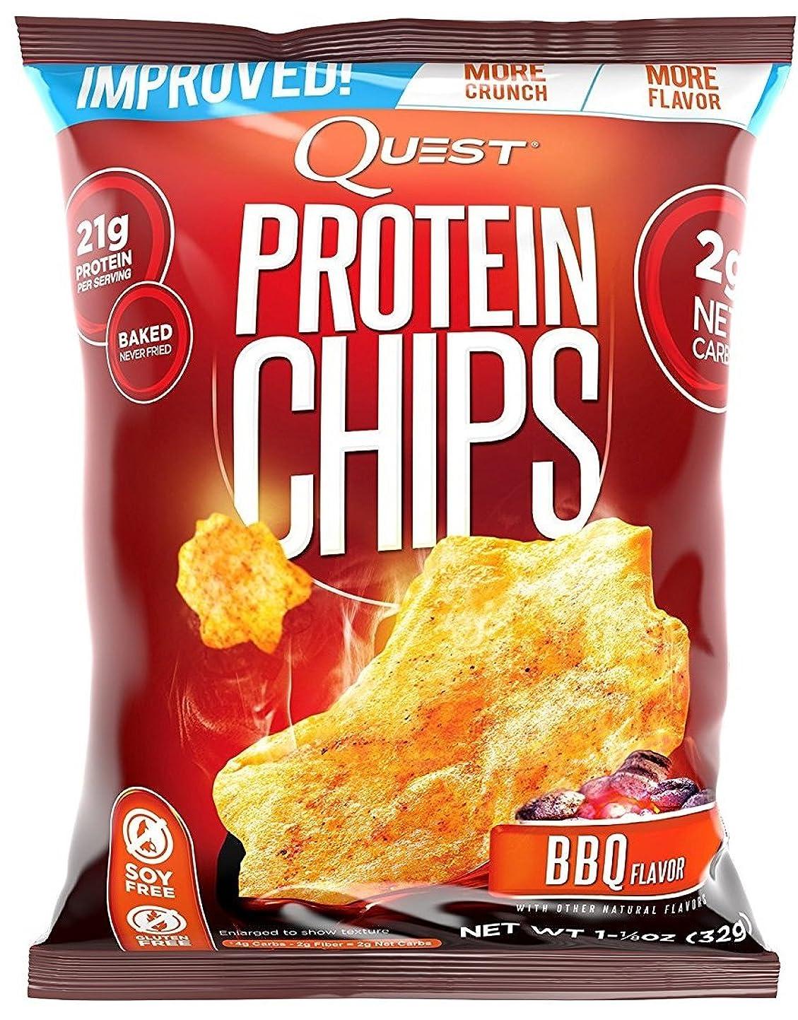 宿題をする創始者だらしないプロテイン チップス(Protein Chips) バーベキュー味 8袋セット [並行輸入品]