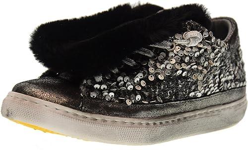 2 STAR de Las mujeres Bajas Hauszapatos de Deporte zapatos 2 DE plata 1663