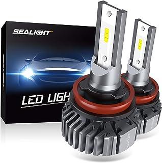SEALIGHT H11 H8 H9 LED Headlight Bulbs, 60W 6000K Xenon White, Easy Installation, Low..