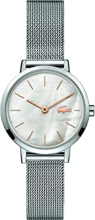 Lacoste Women's Grey Mother Of Pearl Dial Stainless Steel Watch - 2001121