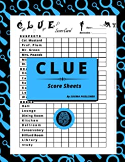 Clue Score Sheets: 100 Score Sheet Detective Notes to Easily Keep Track of All your Clues in one Convenient book, Large En...