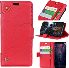 Instanttool Kyocera Android One S4 Wallet Leather Case with Protective Durable Flip Shell Folio flip Cell Phone Cover Bag with Card Slots,Cash Pocket,Red