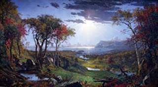 The Museum Outlet - Autumn - On the Hudson River by Jasper Francis Cropsey, Stretched Canvas Gallery Wrapped. 11.7x16.5