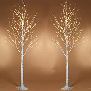Twinkle Star Lighted Birch Tree 6 Feet 96 LED for Home Wedding Festival Party Christmas Decoration 2 LEA2QU09JC