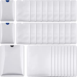RFID Blocking Sleeves 30 PCS, Identity Theft Protection - Include Credit Card Holders 20 PCS & Passport Protectors 10 PCS