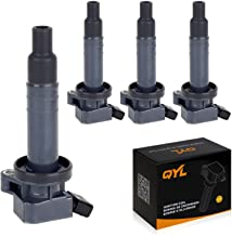 QYL Pack of 4Pcs Ignition Coils Replacement for Chevrolet Prizm/Toyota Celica Corolla Matrix Mr2 Spyder/Pontiac Vibe #UF247 9091902239 C1249 5C1074