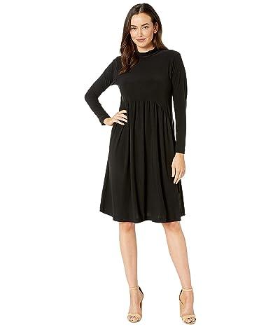 Nally & Millie Mock Neck Dress (Black) Women