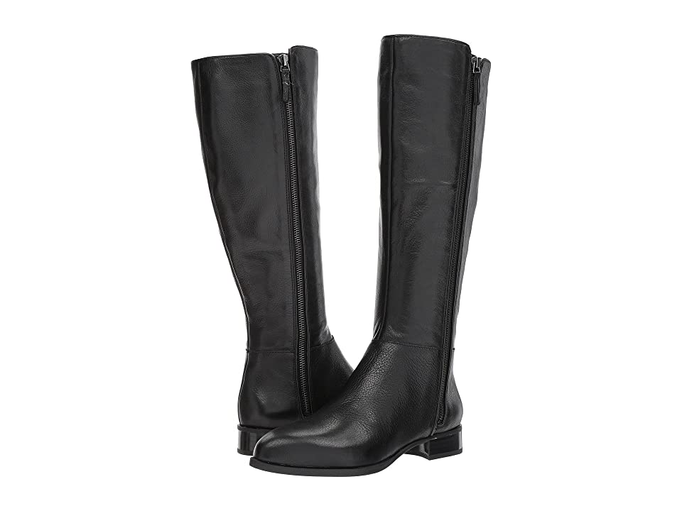 Nine West Nihari Tall Boot (Black Leather) Women