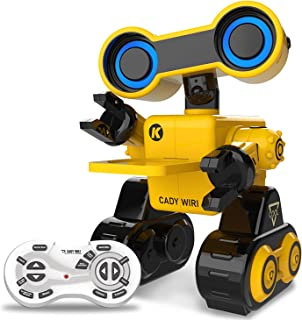 HBUDS Robot Toy Remote Voice Control, Programmable, Touch Sensing STEM Educational Robot Toy with Interactive Feature to Walk, Dance, Sing, Explore, Provide Science Lectures and Send Gifts to Kids