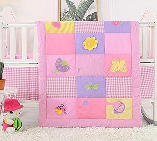 Nursery Set Pink Crib Bedding Sweet Pea Floral Baby Bedding Floral Girl Quilt Baby Quilt Girl Woodland Quilt Pink Woodland Blanket