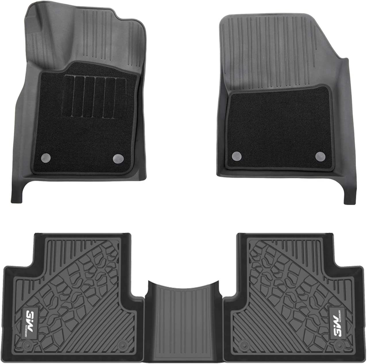 Coverking Custom Fit Front and Rear Floor Mats for Select Jeep Cherokee Models Black Nylon Carpet CFMBX1JP9208